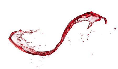 liquidity:  Red wine splash, isolated on white background