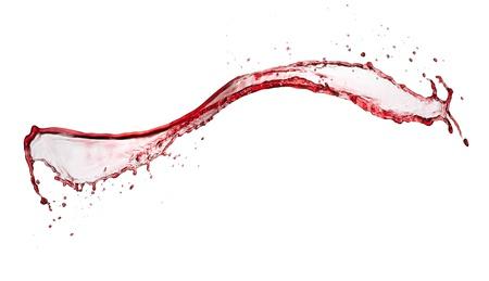 water splashing:  Red wine splash, isolated on white background