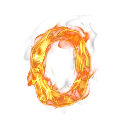 fire font: Fire number isolated on white background