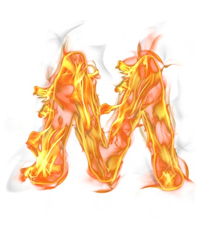 Fire letter isolated on white background  Stock Photo - 16463944