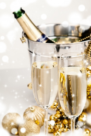 Celebration theme with champagne wine  photo