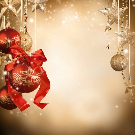 Christmas theme with glass balls and free space for text Stock Photo - 16528192