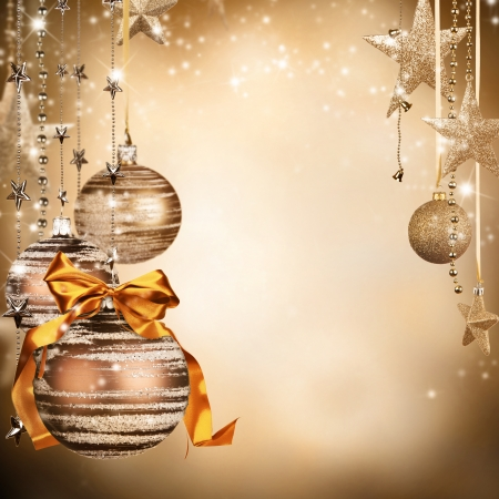 free christmas:  Christmas theme with glass balls and free space for text
