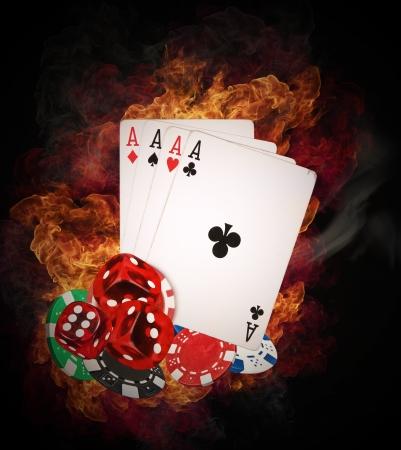 cartas de poker: Concepto Hot juego de póquer