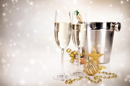 bouteille champagne: Th�me de c�l�bration avec le vin de champagne