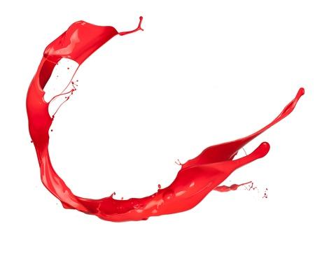 splash paint: Red splash on white background