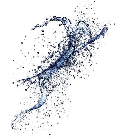 energy drinks: Water splash isolated on white background