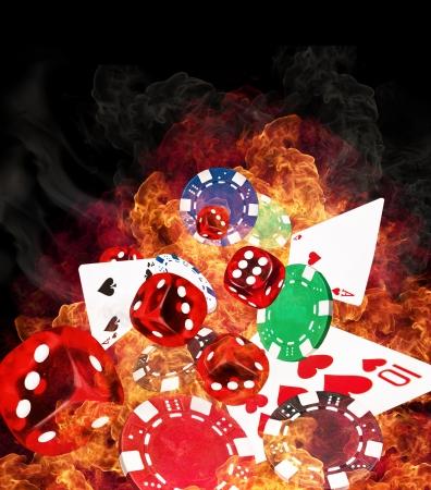 texas hold'em:  Hot poker game concept