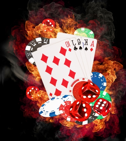 poker game: Hot poker game concept