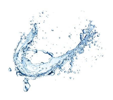 water splash: Water splash isolated on white background