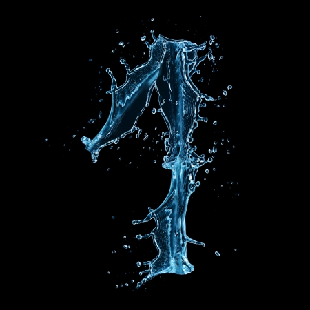 Water splashes number  photo