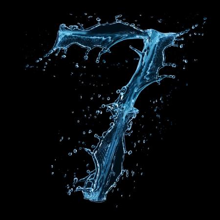 numero: Water splashes number