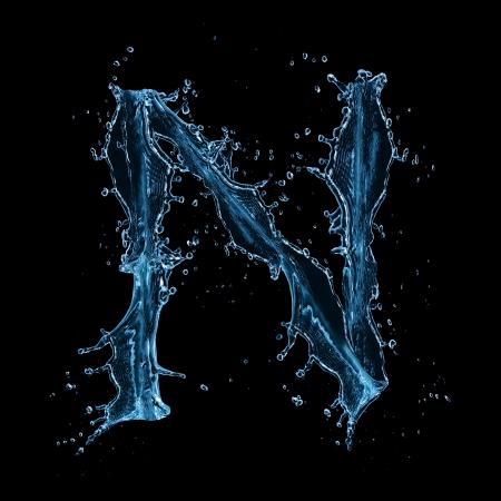 letras negras: El agua salpica carta