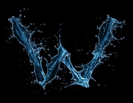 letter liquid water: El agua salpica carta
