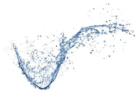 水: 水濺在白色背景孤立