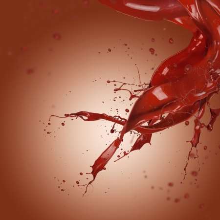 Abstract chocolate splash with free space for text photo