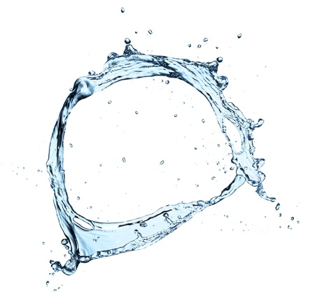 whirl: Water splash isolated on white background