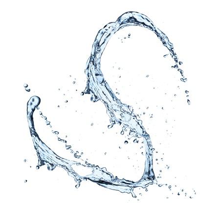 strumień: Plusk wody na białym tle Zdjęcie Seryjne