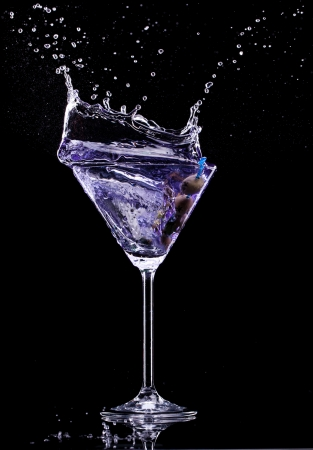 Martini drink isolated on black background photo
