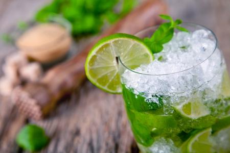 cocktail mixer: Fresh mojito drink