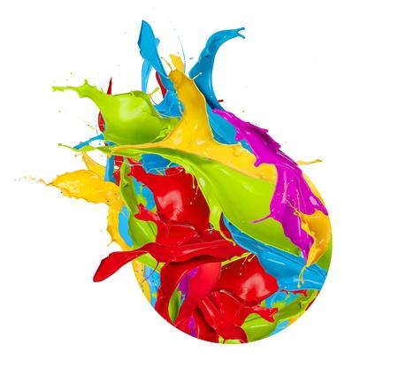 Farbige Spritzer Design-Ikone, isoliert auf weißem Hintergrund Standard-Bild - 18585716