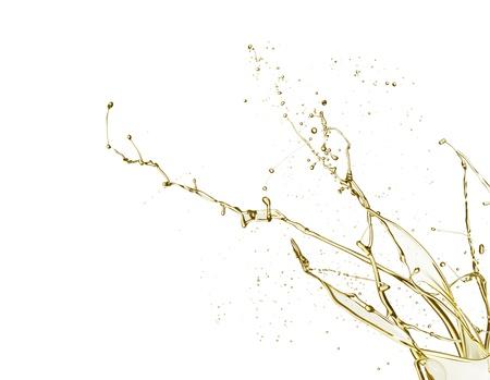 splashing: Oil splash isolated on white background
