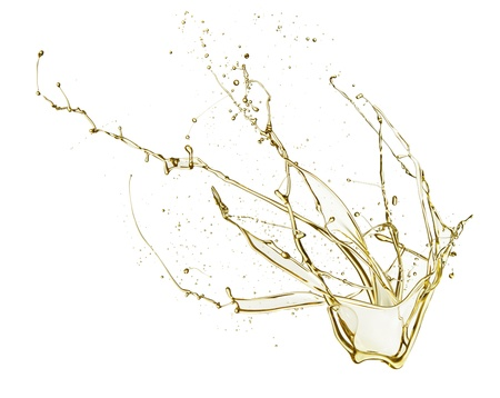 Oil splash isolated on white background photo