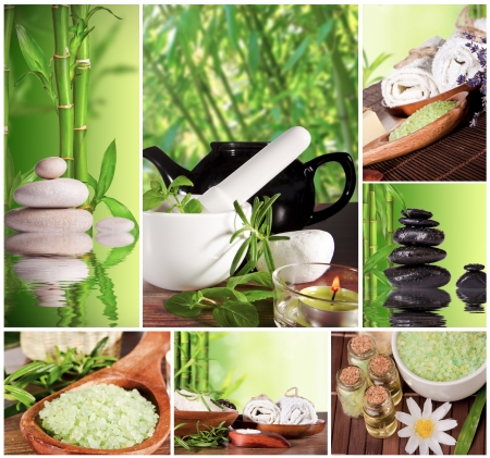 spa collage: Spa still life collection Stock Photo