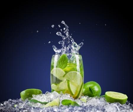 Mojito drink with splash photo
