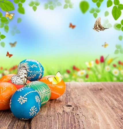 manually: Easter still life