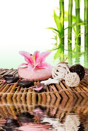 spa flower: Spa still life