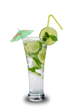 Mojito drink, isolated on white background Stock Photo - 19554288