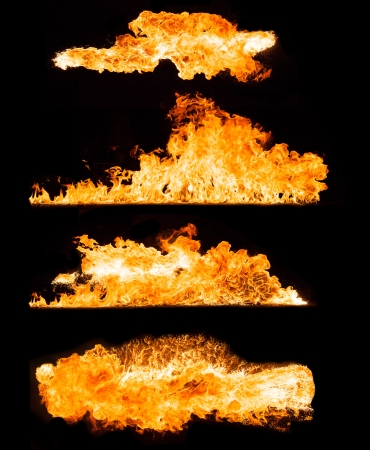 embers: High resolution fire collection isolated ob black background
