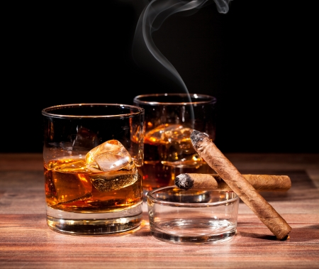 Image result for photo of a cigar and drink