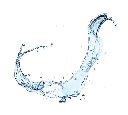 Water splash isoliert auf wei?em Hintergrund Standard-Bild - 21404844