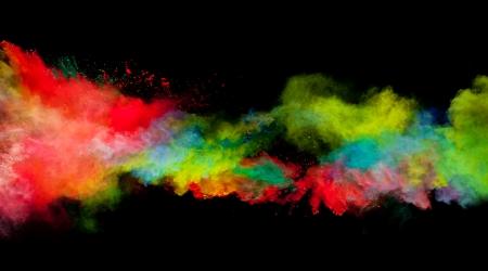 Freeze-Bewegung von farbigen Staub Explosion auf schwarzem Hintergrund isoliert Standard-Bild - 22740260