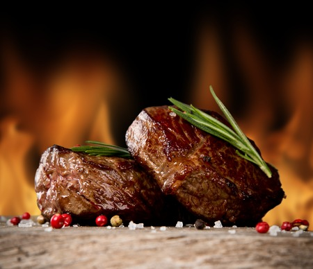 Beef steaks Stock Photo