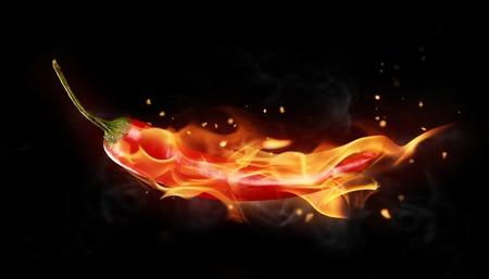 火の赤唐辛子