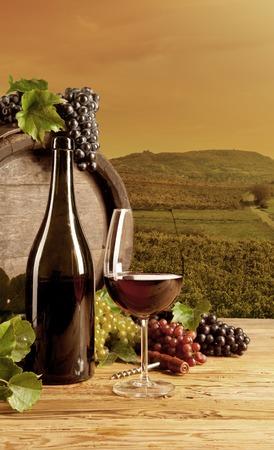 ワインの静物