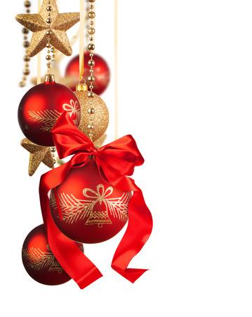 Christmas glass balls isolated on white background Banco de Imagens - 23341023