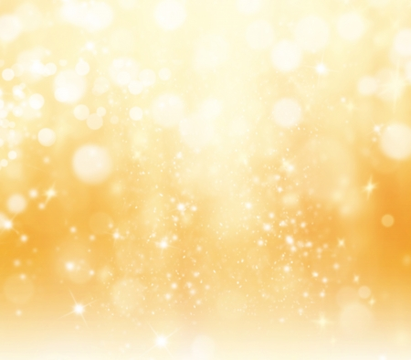 golden  gleam: Shimmering blur spot lights on abstract background Stock Photo