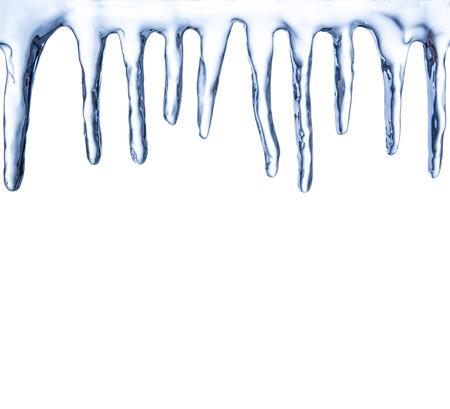 Set di ghiaccioli isolato su sfondo bianco