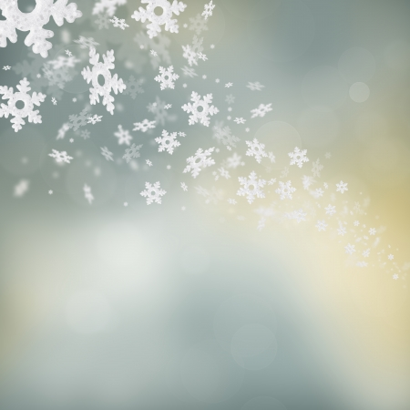 silver texture: Shimmering christmas background with flying snowflakes