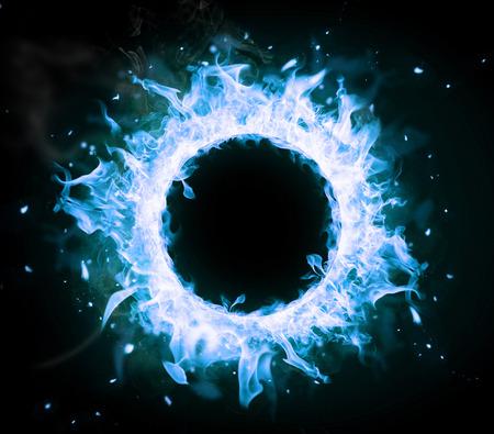 gas ball: Burning gas circle