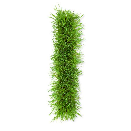 i nobody: Grass letter Stock Photo