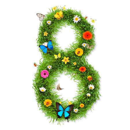 3d flower: Spring number