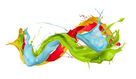 splash: Colored splashes on white