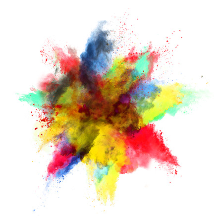Colored powder explosion photo