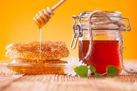 Honey still life