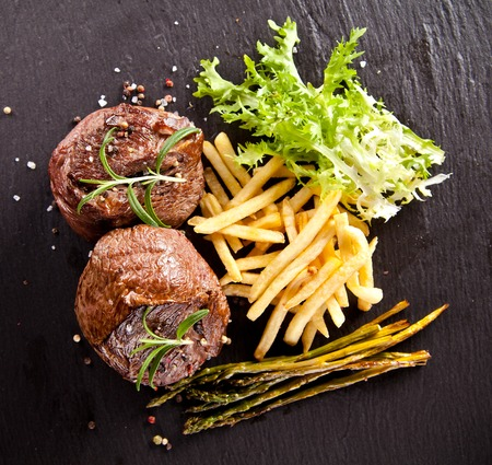 Beef steaks photo
